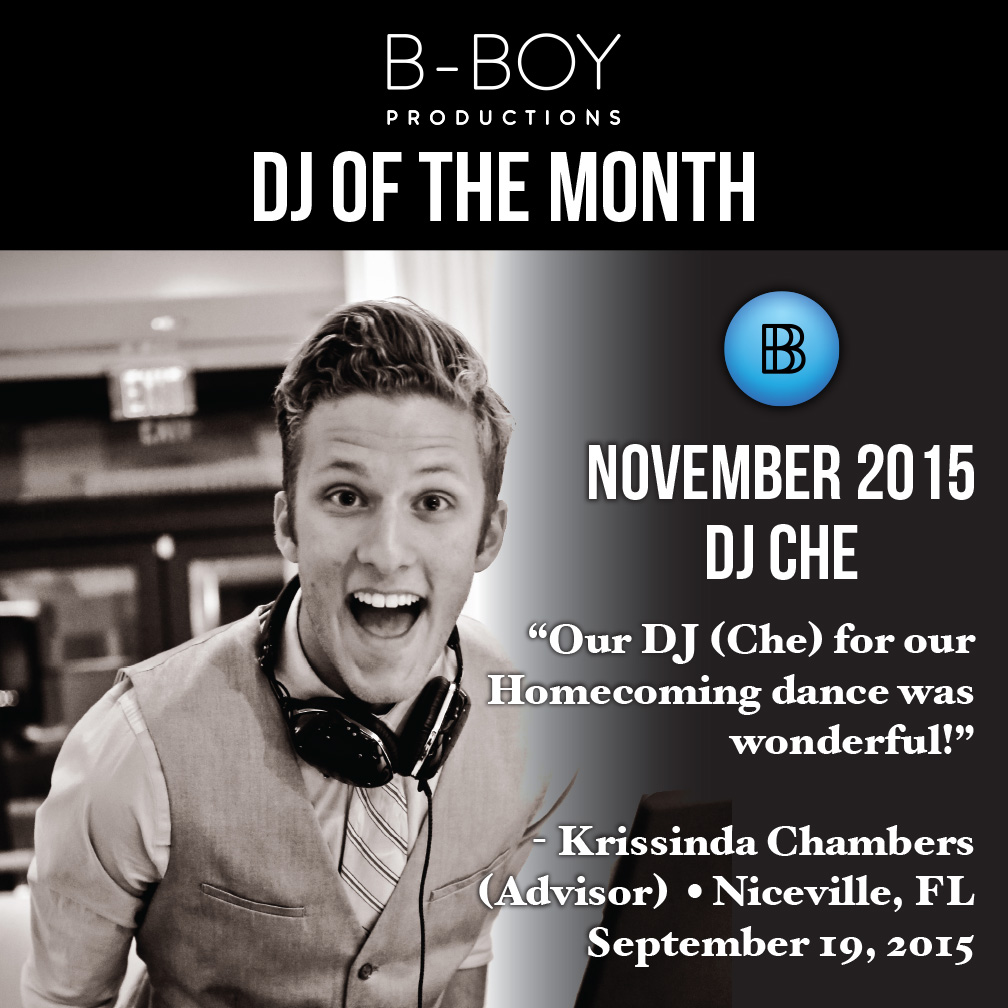 DJ Charles Egstad DJ Of the Month