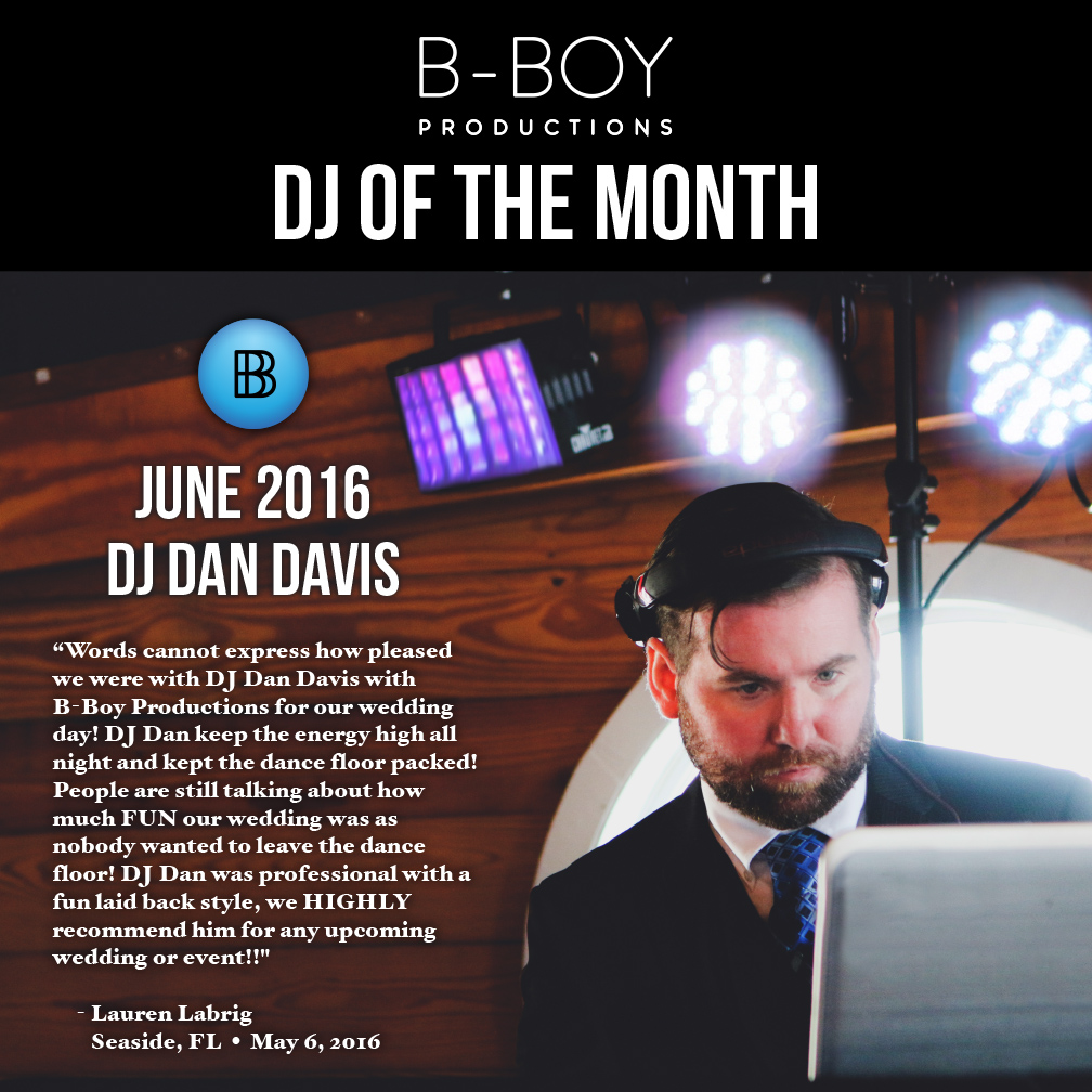 DJ Dan Davis DJ Of The Month