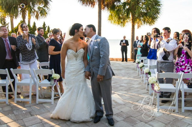 Sandestin Ceremony Bubbles Wedding
