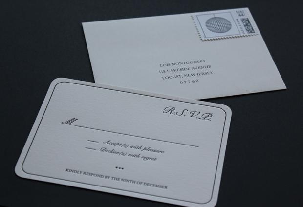 Christina D'Asaro Custom RSVP, Envelope, and Stamp