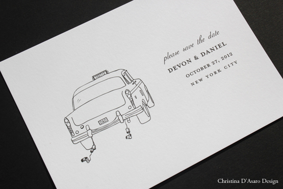 Christina D'Asaro Custom Save the Date