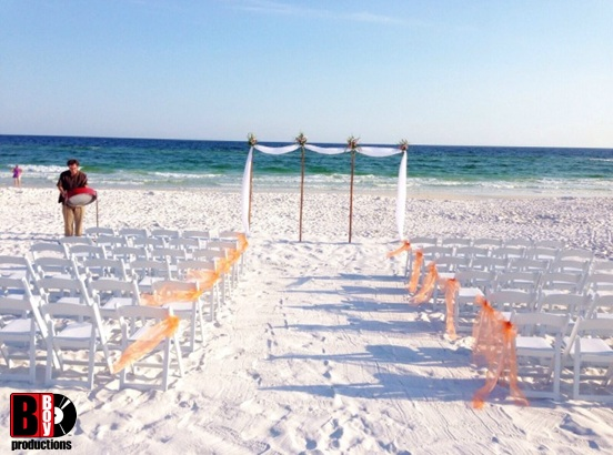 Seascape Wedding Rental Chairs B-Boy Productions