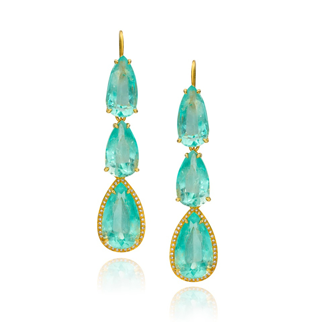Emerald Earrings by Ashley Kersh
